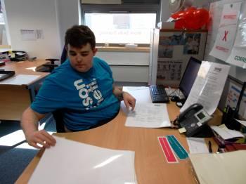 Jack at desk